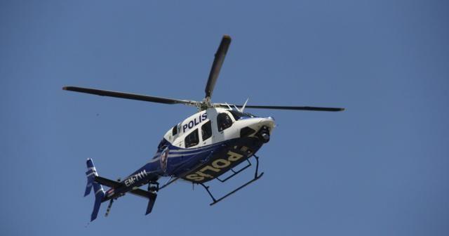 Sokağa çıkma kısıtlamasına helikopterli denetim