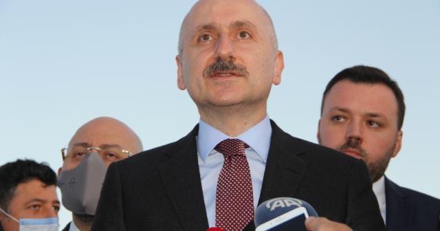 Bakan Karaismailoğlu Erzurum Havalimanı'nda incelemelerde bulundu