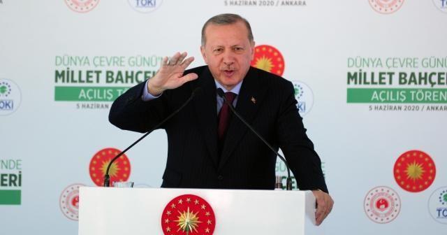 Cumhurbaşkanı Erdoğan, millet bahçelerini açtı