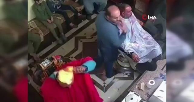 Kendini sterilize etmeye çalışırken kafasını ateşe verdi