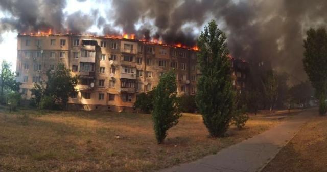 Ukrayna'da eşiyle tartışan kişi binayı ateşe verdi