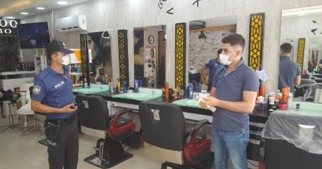 Antalya polisinden 847 berber, kuaför ve güzellik salonuna denetim