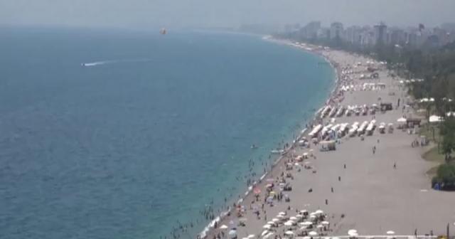 Deniz suyu sıcaklığı hava sıcaklığıyla eşitlendi, Antalya denize döküldü
