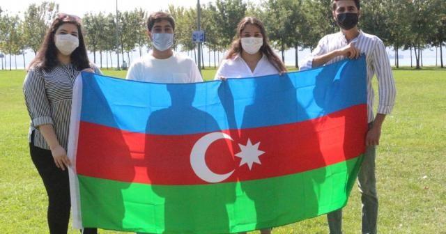 Azerbaycanlı öğrencilerden Ermenistan'a büyük tepki