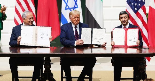 Beyaz Saray'da İsrail-BAE-Bahreyn arasındaki anlaşmanın imzaları atıldı