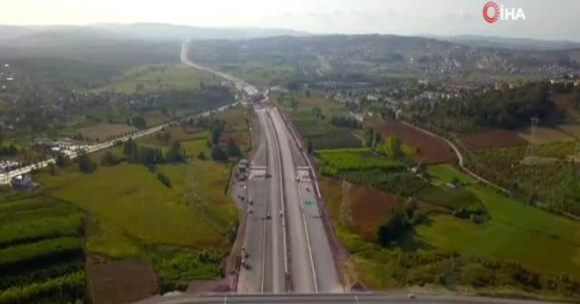 Kuzey Marmara Otoyolu havadan görüntülendi