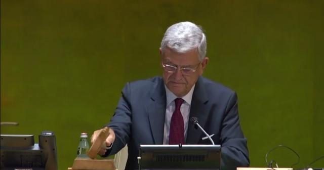 Volkan Bozkır, BM Genel Kurulu Başkanlığı görevini devraldı
