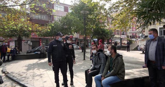 Arnavutköy'de maske denetimi