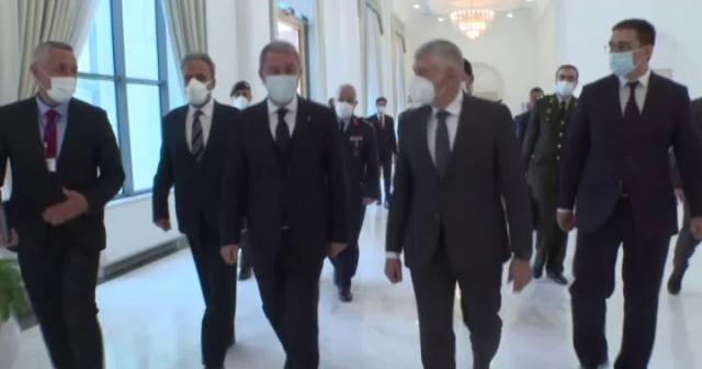 Bakan Akar, Özbekistan Güvenlik Kurulu Genel Sekreteri Mahmudov ile görüştü