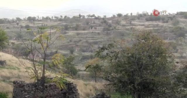 Ermenistan işgalinden kurtarılan Cebrayıl'in eski kent merkezi görüntülendi