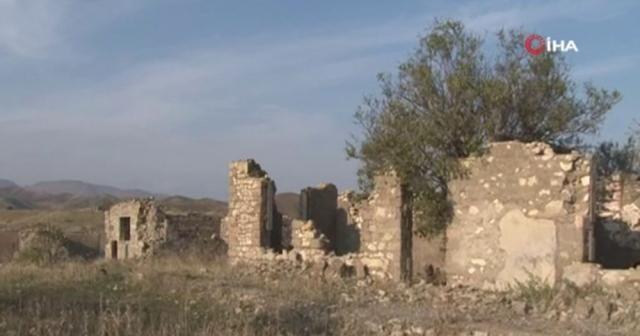Ermenistan işgalinden kurtarılan Çereken Köyü'nün görüntüleri paylaşıldı