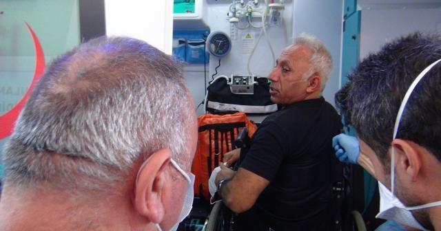 Eşinin darp ettiği iddia edilen engelli koca polise sığındı