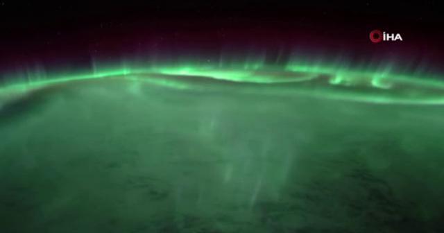 Kutup ışıkları uzaydan görüntülendi