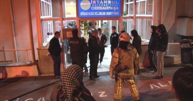 Cerrahpaşa Tıp Fakültesi Hastanesin'de korkutan yangın hastaları paniğe sevk etti