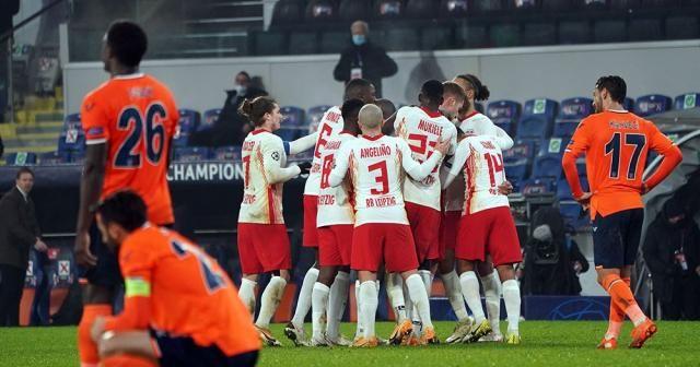 Başakşehir, sahasında karşılaştığı Alman ekibi RB Leipzig'e 4-3 mağlup oldu