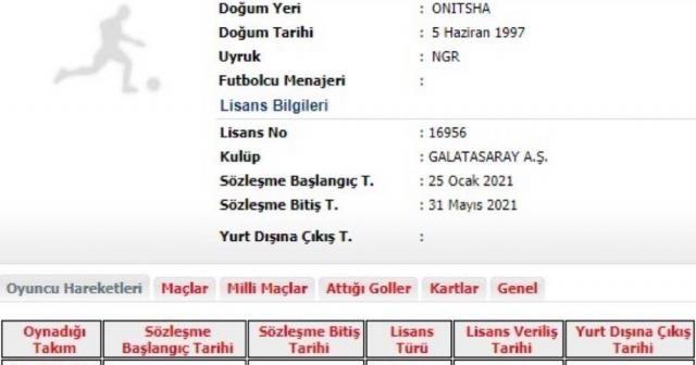Galatasaray'da yeni transfer Henry Onyekuru'nun lisansı çıkartıldı