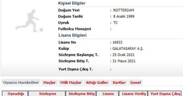 Galatasaray'ın yeni transferi Halil Dervişoğlu'nun lisansı çıkarıldı
