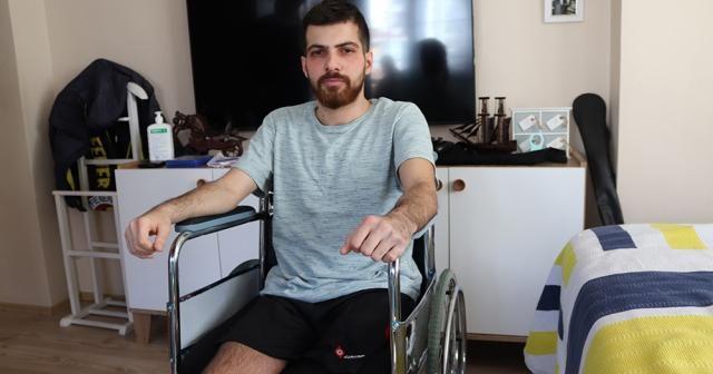 Ölümden dönen genç sağlıkçı iki bacağını da kaybetti