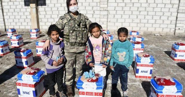 Türk Silahlı Kuvvetleri'nden Rasulaynlı ihtiyaç sahiplerine gıda yardımı