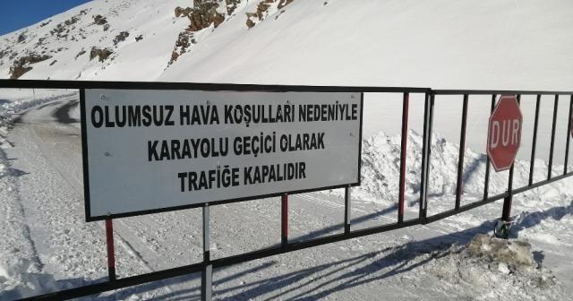 Van-Bahçesaray yolu ulaşıma kapalı