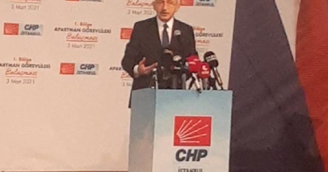 CHP Genel Başkanı Kılıçdaroğlu, Apartman Görevlileri Buluşması'nda konuştu