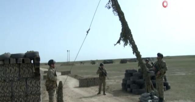 Azerbaycan ve Türkiye muhabere birliklerinin ortak tatbikatı devam ediyor