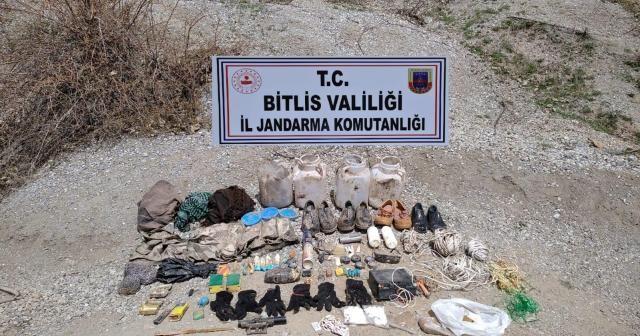 Bitlis'te patlamaya hazır TNT ve inşaat malzemesi ele geçirildi