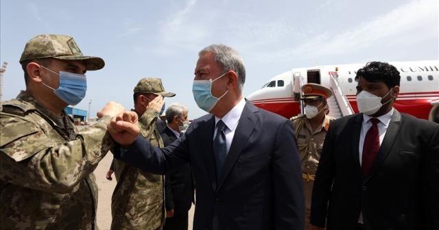 Bakan Akar, Libya Genelkurmay Başkanı El Haddad ile görüştü