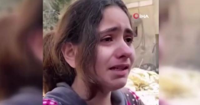 """Filistinli küçük kızdan yürek burkan soru: """"Neden füze atarak çocukları öldürüyorsunuz"""""""