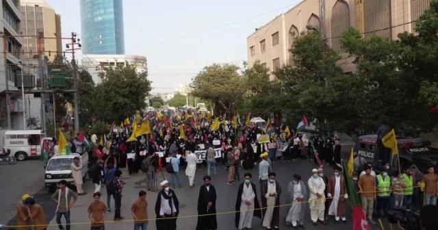 Pakistan'da Filistin'e destek protestoları devam ediyor