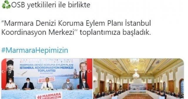"""""""Marmara Denizi Koruma Eylem Planı İstanbul Koordinasyon Merkezi toplantımıza başladık"""""""
