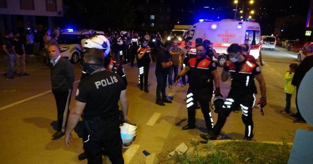 Samsun'da Yunus polisleri kaza yaptı: 2'si polis 4 yaralı