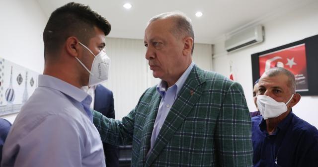 Cumhurbaşkanı Erdoğan'dan Şahin Akdemir'in ailesine taziye ziyareti