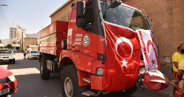 KKTC'den Türkiye'deki yangınlarla mücadeleye destek