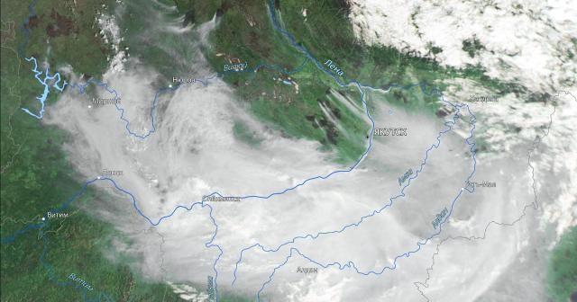 Rusya'daki orman yangınlarından yükselen duman Moğolistan'a ulaştı