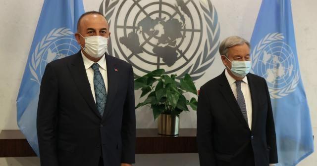 Bakan Çavuşoğlu, New York'ta BM Genel Sekreteri Guterres ile görüştü