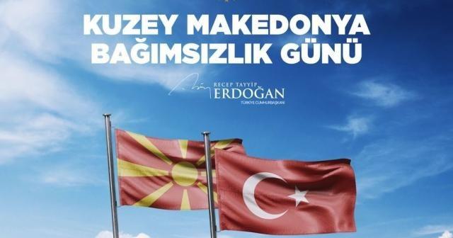 Cumhurbaşkanı Erdoğan, Kuzey Makedonya Cumhuriyeti'nin bağımsızlık yıl dönümünü tebrik etti
