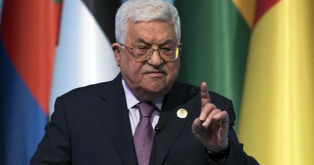 """Filistin Devlet Başkanı Abbas'tan İsrail'e: """"1 yıl içinde 1967 sınırlarına çekilin"""""""