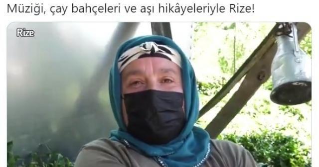 Sağlık Bakanı Koca, Rize'de çay bahçesinde aşılama işlemini paylaştı