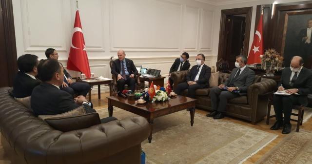 Bakan Soylu, Kırgızistan Acil Durumlar Bakanı Boobek Azikeev'i kabul etti