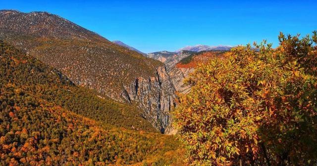 Hançer Kanyonunda sonbahar şöleni