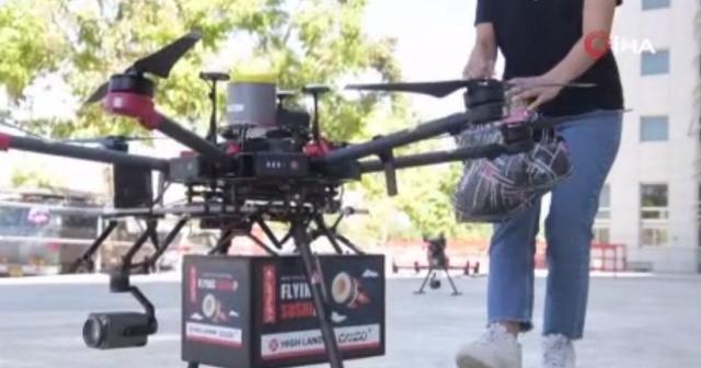 İsrail'de dronelarla sipariş teslimatı için test uçuşları başladı