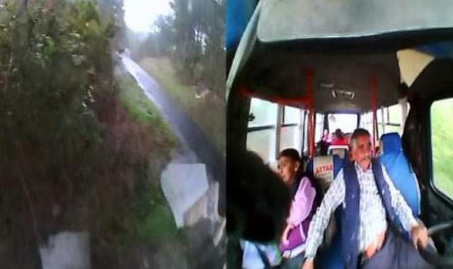 Öğrenci servisi kazası saniye saniye görüntülendi