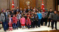 Cumhurbaşkanı kamplardaki çocukları kabul etti