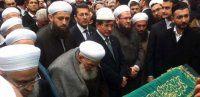Davutoğlu, Ustaosmanoğlu'nun cenazesinde