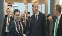 Haşim Kılıç, Erdoğan ve Davutoğlu'nu kapıda karşıladı