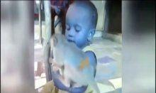 Çocuğun maymunla süt savaşı!
