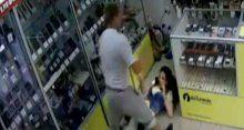 Genç kadına böyle saldırdı!