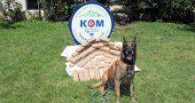 Narkotik köpeği 300 bin Euro'luk eroin buldu