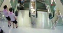 Yürüyen merdivende dehşet anları